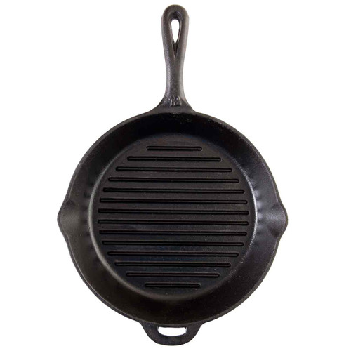 "Cast Iron Skillet  12"" with Ribs"