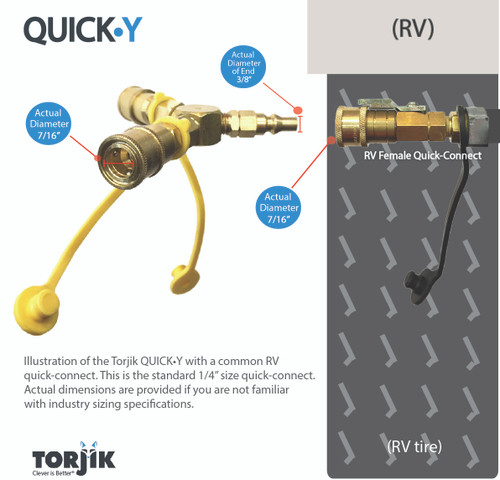 Propane Quick Connect Y Adapter Rv Fitting Propanegear
