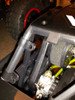 """Slide the 4 supplied 3/8"""" plastic clamps onto the cage as shown.  Make sure the clamps are facing the right way as shown in this picture."""