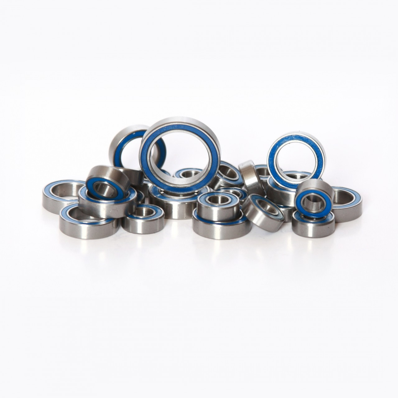 Axial Wraith 27 Piece blue rubber sealed bearing kit from Fullforce RC.