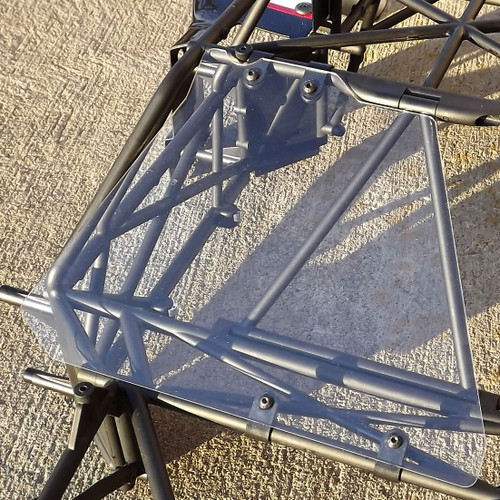 Check out the easy install using four cable clamps to secure to your roll cage.