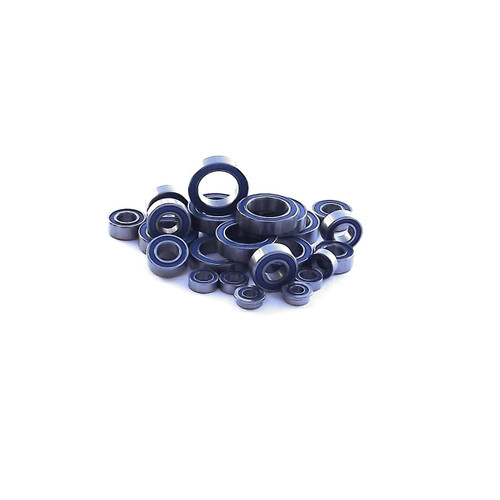 Full replacement bearing kit for the Axial Exo Terra Buggy.  All 24 bearings are our super slick rubber sealed bearings.  Do a full tear down on your truck and get it back to that new condition!