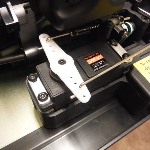 DBXL servo clamps shown mounted on the throttle/brake servo.