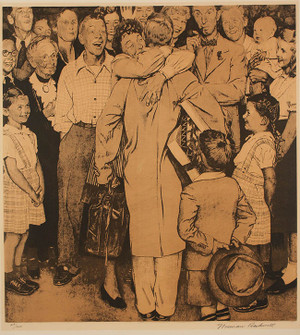 CHRISTMAS HOMECOMING BY NORMAN ROCKWELL