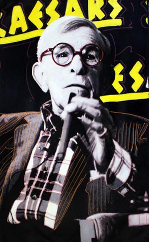 GEORGE BURNS PERFORMS AT CAESAR'S BY STEVE KAUFMAN