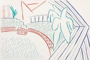 MY POOL AND TERRACE BY DAVID HOCKNEY