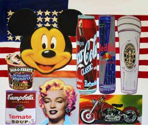 USA ICONS (LARGE) BY STEVE KAUFMAN