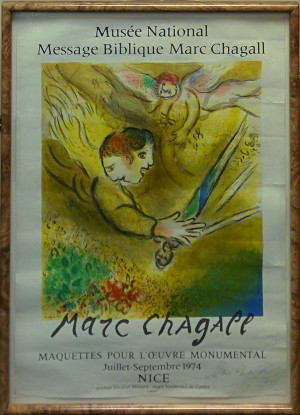 THE ANGEL OF JUDGEMENT (SIGNED) BY MARC CHAGALL