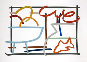 FAST SKETCH STILL LIFE WITH GOLDFISH BY TOM WESSELMANN
