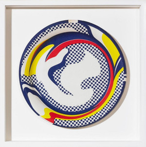 PLATE BY ROY LICHTENSTEIN