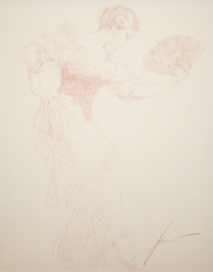 SPANISH DANCER (DRAWING SEPIA) BY PINO