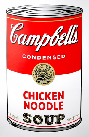 CHICKEN NOODLE - CAMPBELL SOUP CAN BY ANDY WARHOL FOR SUNDAY B. MORNING