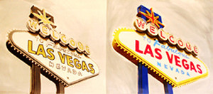 DOUBLE WELCOME TO FABULOUS LAS VEGAS BY STEVE KAUFMAN