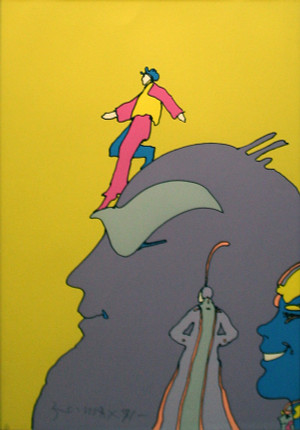 STEPPING DOWN (1970'S) BY PETER MAX