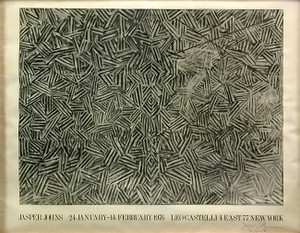 LEO CASTELLI GALLERY POSTER BY JASPER JOHNS
