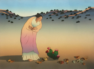 FLOWERS OF LOS LUNAS 1987 BY R.C. GORMAN