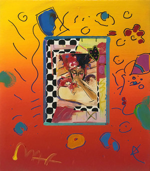 SUZIN (OVERPAINT) BY PETER MAX