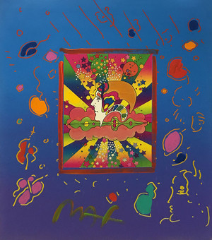 DIFFERENT DRUMMERS (OVERPAINT) BY PETER MAX