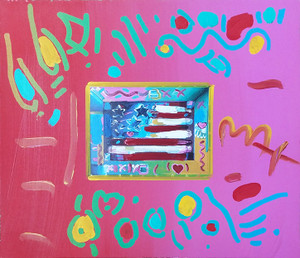FLAG IV (OVERPAINT) BY PETER MAX