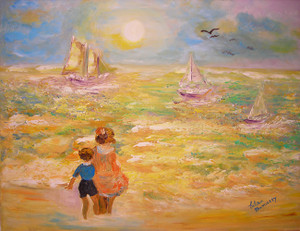 CHILDREN BY THE SEA IN THE MORNING BY ESTERA NANASSY