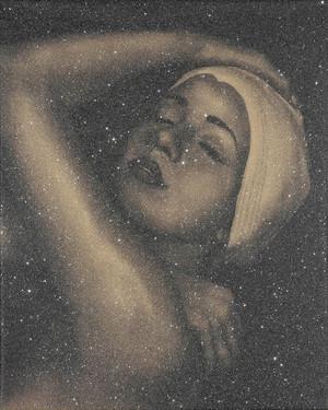 SHOWER PORTRAIT (GOLD) BY CAROLE A. FEUERMAN