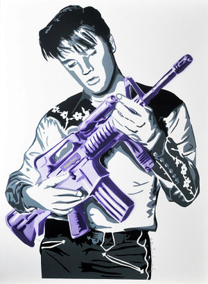 DON'T BE CRUEL (PURPLE) BY MR. BRAINWASH