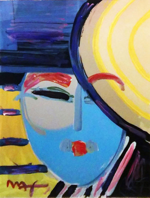 DECO LADY (EMBELLISHED) BY PETER MAX