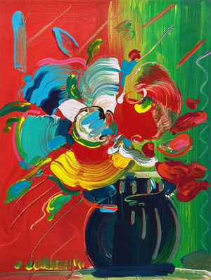 FLOWER VASE (1990'S)  BY PETER MAX