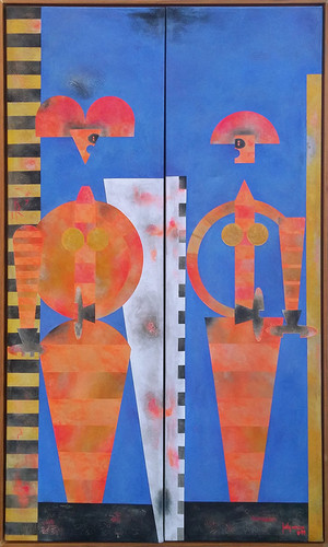 UNKNOWN FEMALE DIPTYCH BY JUDY MILAZZO