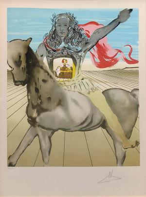 CHEVALIER SURREALISTE (HOMMAGE A VELASQUEZ) BY SALVADOR DALI