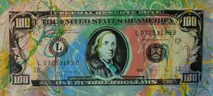 ONE HUNDRED DOLLAR BILL BY STEVE KAUFMAN