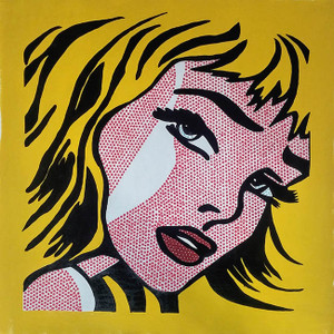 CRYING GIRL (YELLOW) BY STEVE KAUFMAN