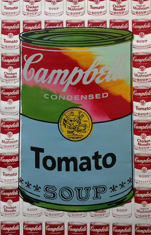 CAMPBELL'S TOMATO SOUP BY STEVE KAUFMAN