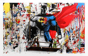 BATMAN VS SUPERMAN BY MR. BRAINWASH