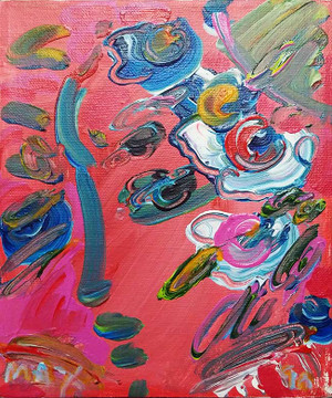 PROFILE 1 (PINK) BY PETER MAX
