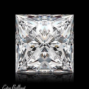 GIA Certified 2.12 Carat Princess Diamond F Color VS2 Clarity Excellent Investment