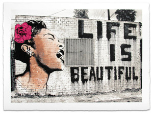 BILLIE IS BEAUTIFUL BY MR. BRAINWASH
