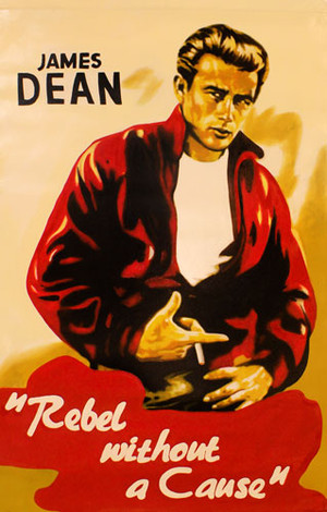 JAMES DEAN - REBEL WITHOUT A CAUSE BY STEVE KAUFMAN