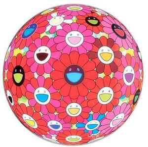 FLOWERBALL RED PINK (3D) BY TAKASHI MURAKAMI