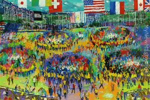 CHICAGO MERCANTILE EXCHANGE BY LEROY NEIMAN