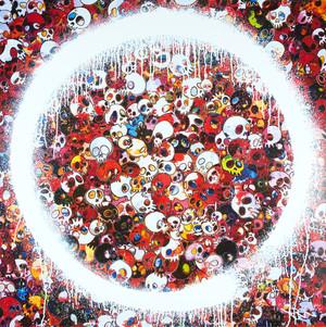 ENSO: ZEN MOMENTO MORI RED BY TAKASHI MURAKAMI