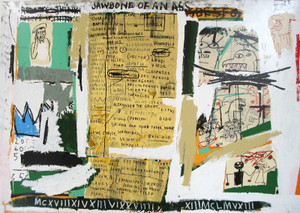 JAWBONE OF AN ASS 1982 BY JEAN-MICHEL BASQUIAT