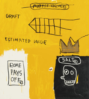 ROME PAYS OFF 1982 BY JEAN-MICHEL BASQUIAT
