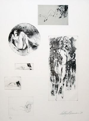 SIX NUDES BY LEROY NEIMAN