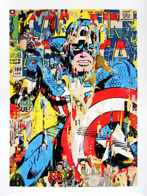 CAPTAIN AMERICA BY MR. BRAINWASH