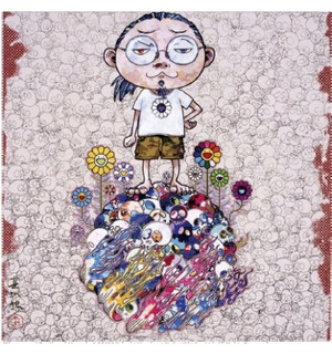 FLOWERS AND DEATH AND ME AND... BY TAKASHI MURAKAMI