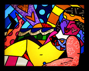 UNKNOWN (BEACH) BY ROMERO BRITTO