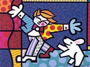 BRENDAN AND THE WISHING DOG BY ROMERO BRITTO