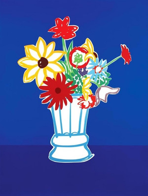 COUNTRY BOUQUET WITH BLUE BY TOM WESSELMANN