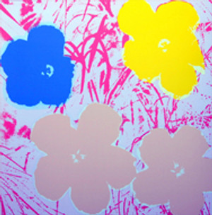 FLOWERS 11.70 BY ANDY WARHOL FOR SUNDAY B. MORNING